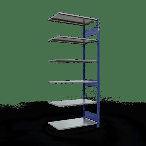 Steckregal Anbauregal  2500x1000x600 mm,  70 kg Rahmen montiert mit Längenriegel SCHULTE Lagertechnik