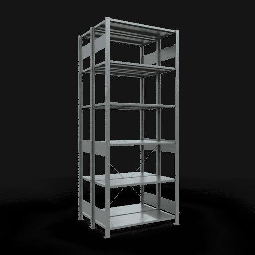 Doppelregal Grundregal Stecksystem 2500x1000x2x400 mm verz.2×6 Fachböden 150 kg Fachlast SCHULTE Lagertechnik