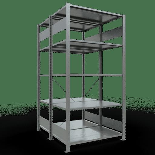 Doppelregal Grundregal Stecksystem 2000x1000x2x600 mm verz.2×5 Fachböden 150 kg Fachlast SCHULTE Lagertechnik