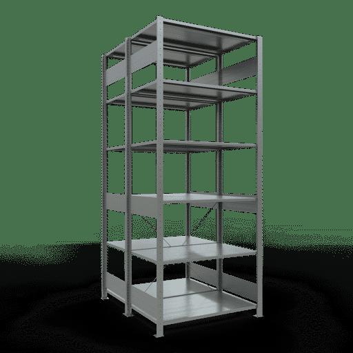 Doppelregal Grundregal Stecksystem 2500x1000x2x600 mm verz.2×6 Fachböden 150 kg Fachlast SCHULTE Lagertechnik