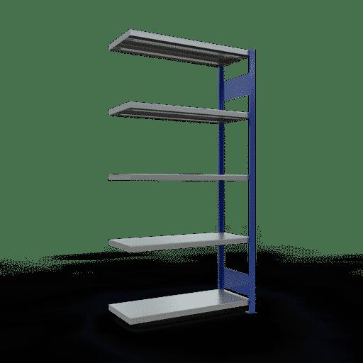 Steckregal Anbauregal  2000x1000x400 mm,  Fachlast 330 kg Rahmen montiert mit Längenriegel SCHULTE Lagertechnik