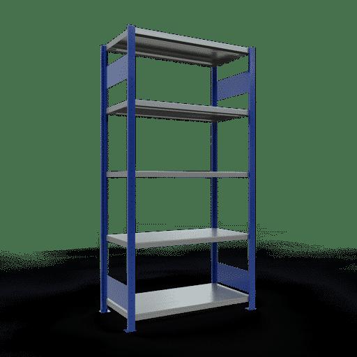 Steckregal Grundregal  2000x1000x500 mm,  Fachlast 330 kg Rahmen montiert mit Längenriegel SCHULTE Lagertechnik