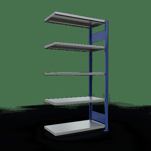 Steckregal Anbauregal  2000x1000x500 mm,  Fachlast 330 kg Rahmen montiert mit Längenriegel SCHULTE Lagertechnik