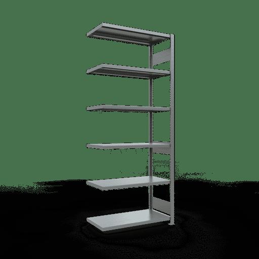 Steckregal Anbauregal  2500x1000x500mm, Fachlast 330 kg Rahmen montiert mit Längenriegel SCHULTE Lagertechnik