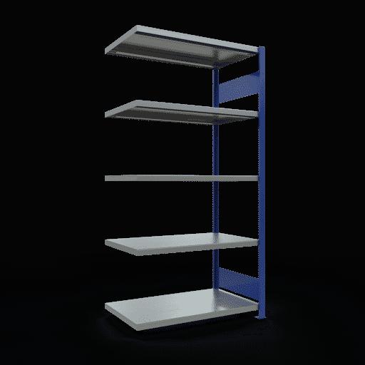 Steckregal Anbauregal  2000x1000x600 mm,  Fachlast 330 kg Rahmen montiert mit Längenriegel SCHULTE Lagertechnik