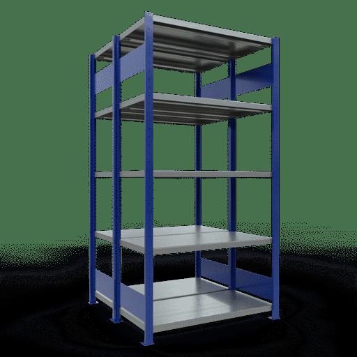 Doppelregal Grundregal Stecksystem 2000x1000x2x500 mm 2×5 Fachböden 250 kg Fachlast SCHULTE Lagertechnik