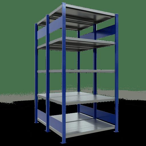 Doppelregal Grundregal Stecksystem 3000x1000x2x600 mm 2×7 Fachböden 250 kg Fachlast SCHULTE Lagertechnik