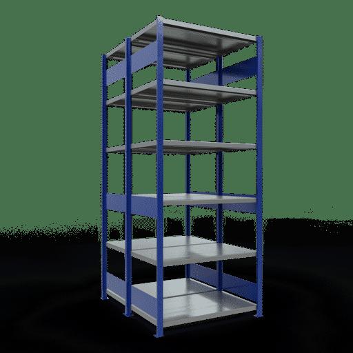 Doppelregal Grundregal Stecksystem 2500x1000x2x600 mm 2×6 Fachböden 250 kg Fachlast SCHULTE Lagertechnik