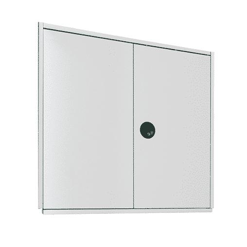 Flügeltür 1000×1000 mm für Stecksystem Fachbodenregal – verschiedenschließend SCHULTE Lagertechnik