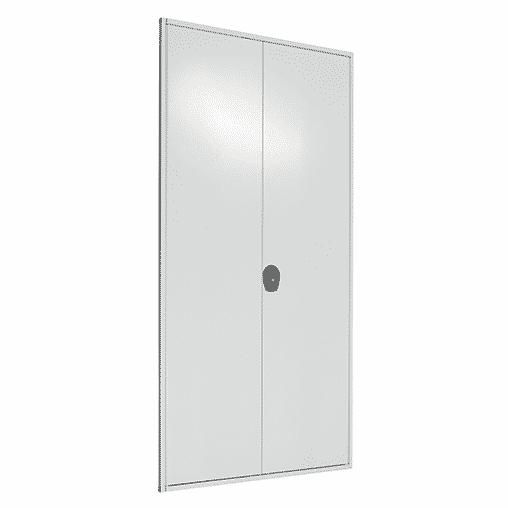 Flügeltür 2000×1000 mm für Stecksystem Fachbodenregal – verschiedenschließend SCHULTE Lagertechnik