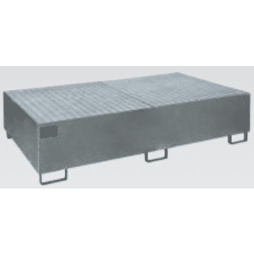 Auffangwanne für Palettenregal für Holmlänge 3.300 mm verzinkt mit Gitterrost Auffangwanne