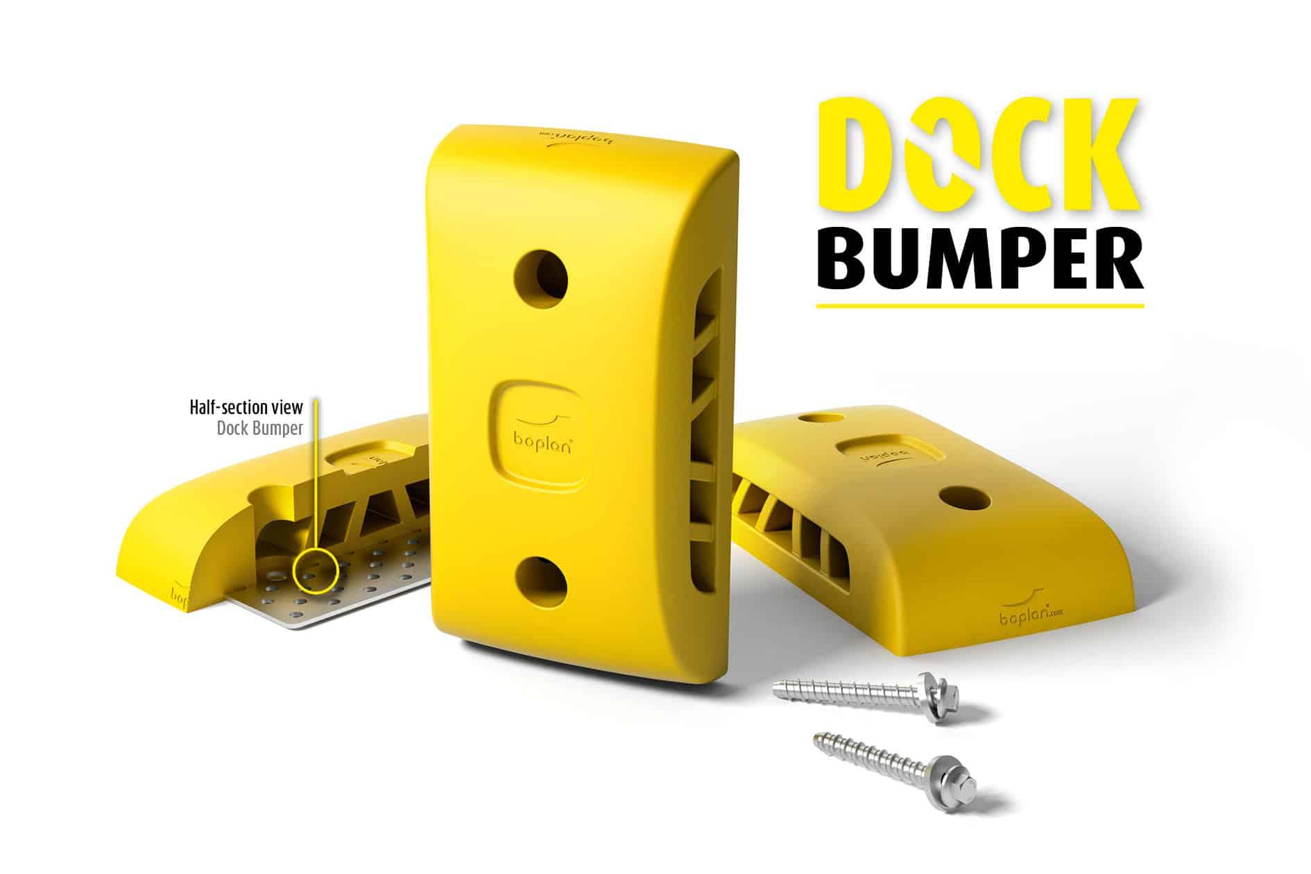 Rammpuffer für LKW Dock boplan® Dock Bumper – 450x250x100mm – gelb
