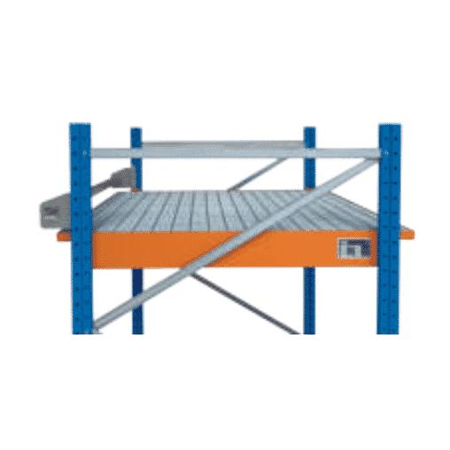 Auffangwanne zum Einhängen für Palettenregal für Holmlänge 3.600 mm RAL 5010 SCHULTE Lagertechnik Einhängewanne
