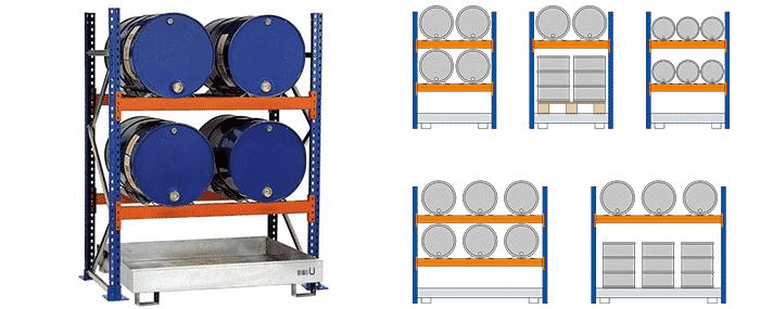 Fassregale von SCHULTE Lagertechnik bei Kauf-dein-Regal.de