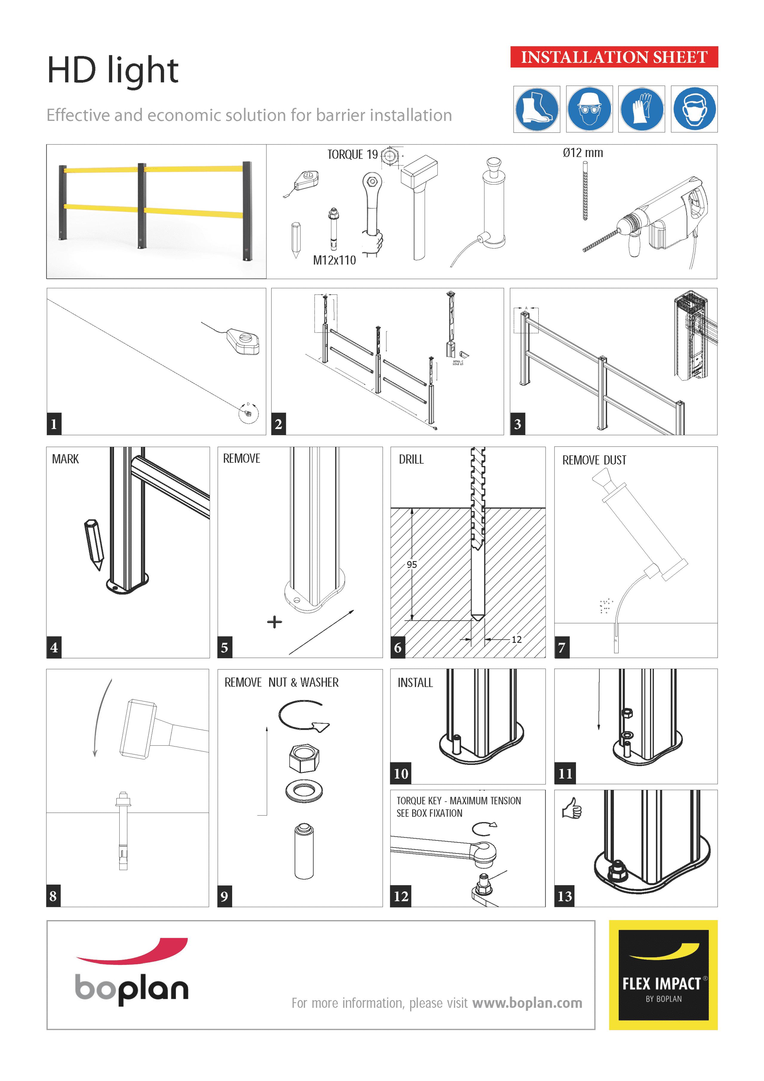 Montageanleitung boplan HD Light