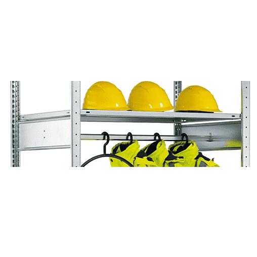 Garderobenstangen Komplettset zum Nachrüsten 750×500 mm – RAL 7035 lichtgrau