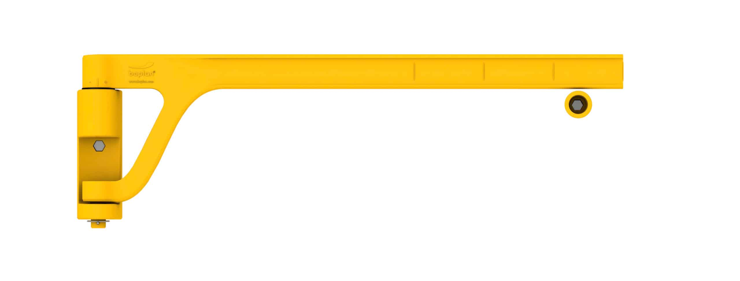 Sicherheitstür selbstschließende Absturzsicherung zuschneidbar boplan® Single Axes gate – Länge 1200mm – gelb