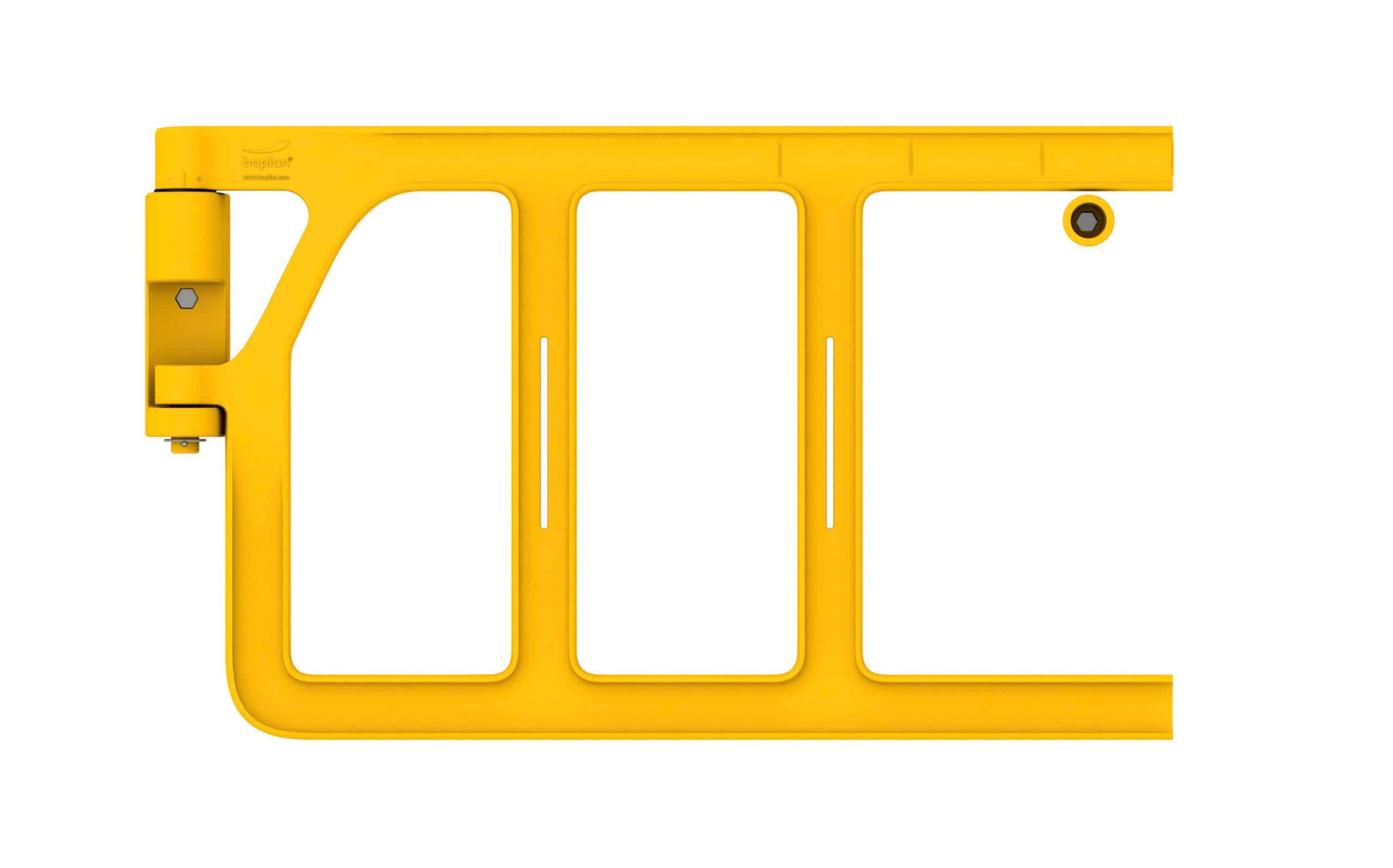 Sicherheitstür selbstschließende Absturzsicherung zuschneidbar boplan® Double Axes gate – Länge 1200mm – gelb