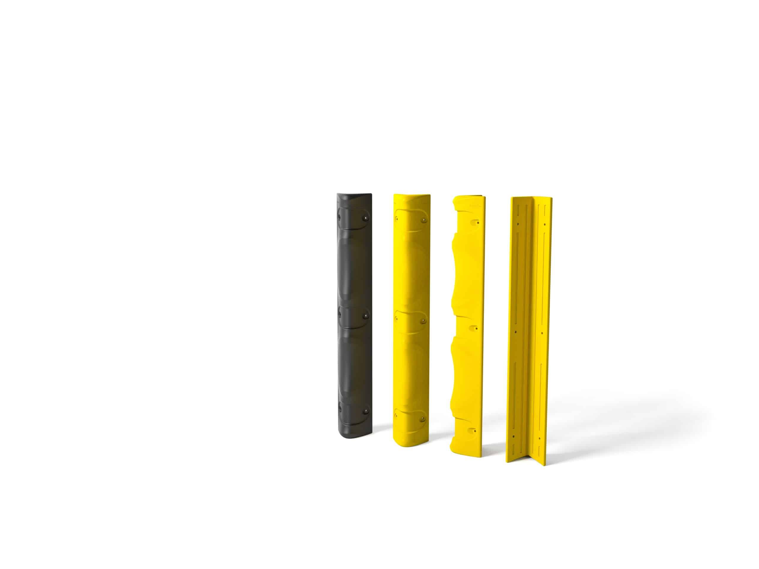 Eckanfahrschutz für Säule boplan® Kantenschutz schwarz 1.000x100x100 mm