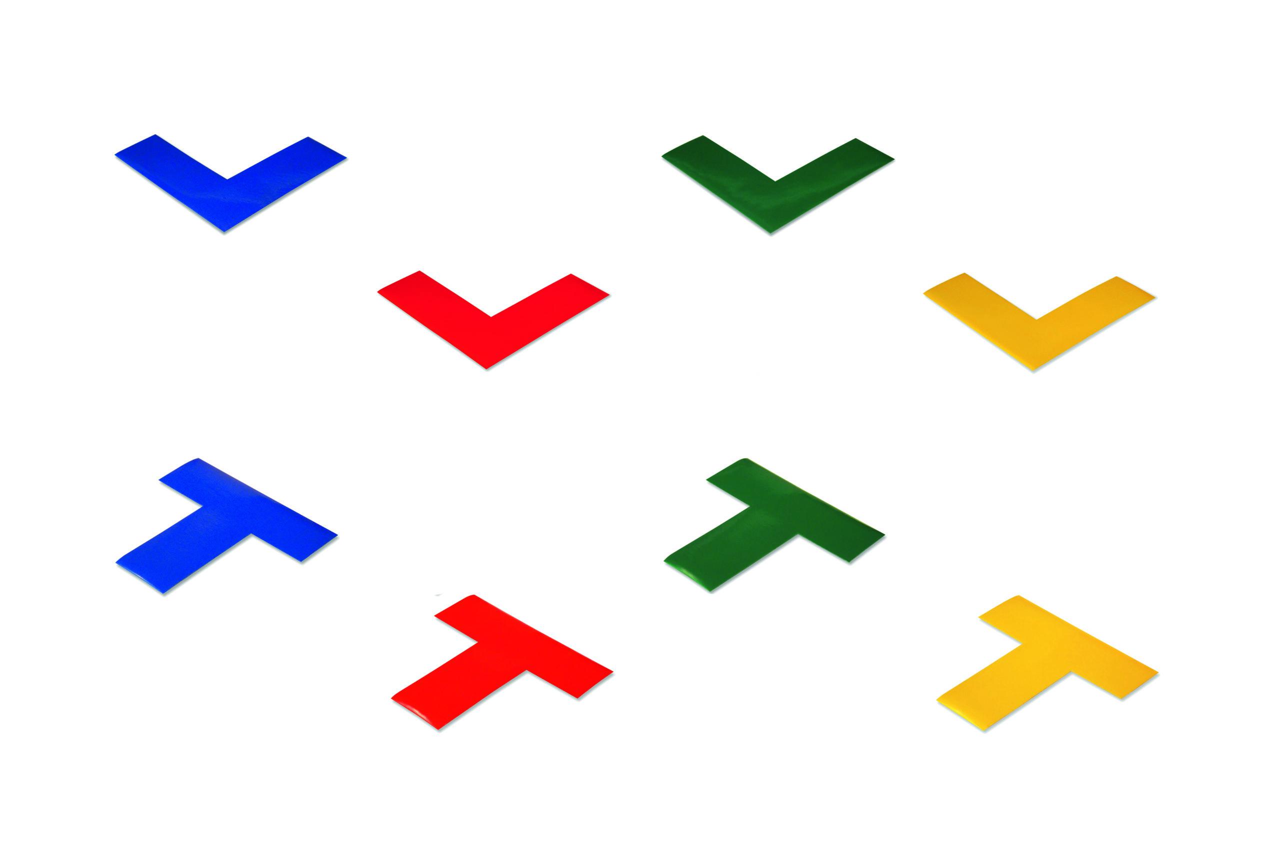 """boplan® Lineplan Bodenmarkierung """"T"""" – gelb"""