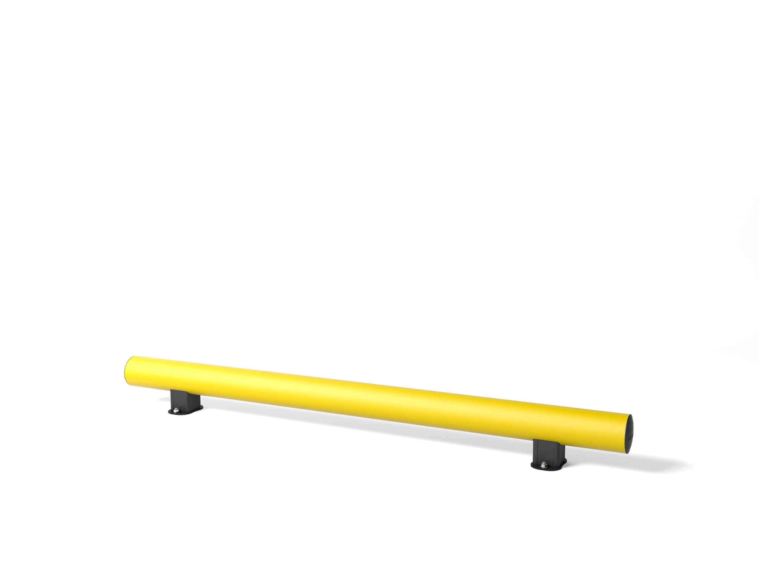 Rammschutzplanke boplan® TB Mini – OD Länge =  1800mm – gelb