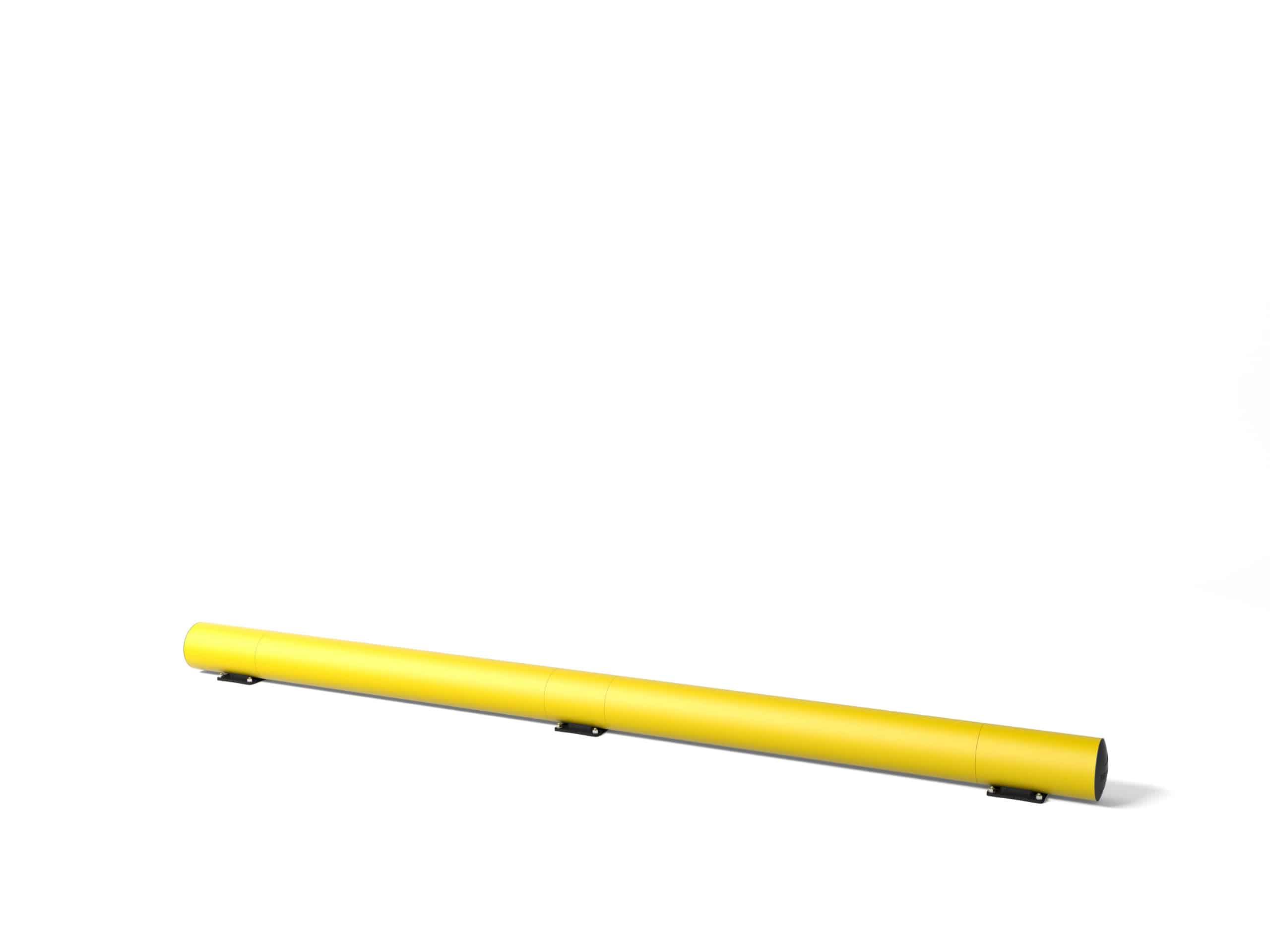 Rammschutzplanke boplan® TB200 – Set OD Länge =  3700mm – gelb