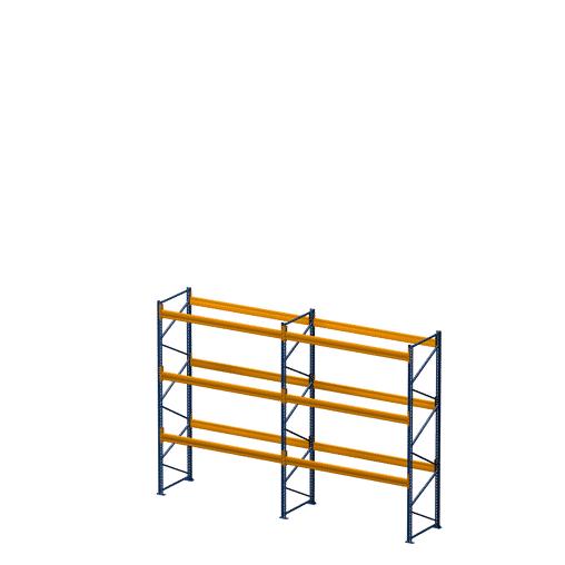 Palettenregal NEDCON, Einfachregal, 4 Lagerebenen, H3000xB3950xT1100 mm, Fachlast 3000 kg, 16 Palettenplätze