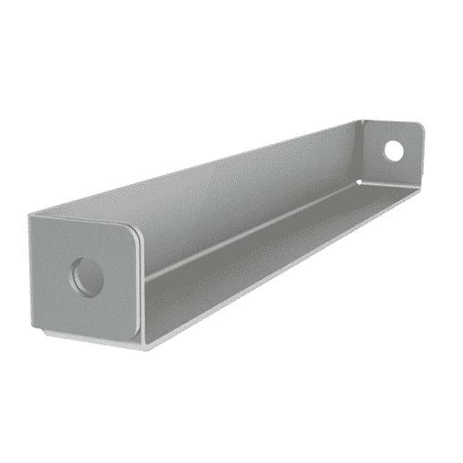 NEDCON Doppelregalverbinder Abstandhalter, Länge 400 mm, sendz. verzinkt