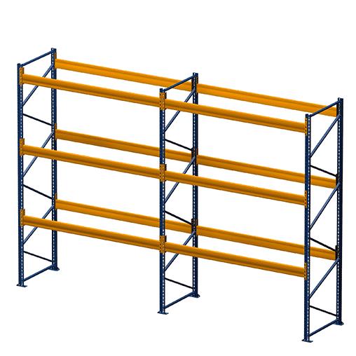 Palettenregal von NEDCON 2 Felder 4 Ebenen bei Kauf-dein-Regal.de zum besten Preis Palettenregale