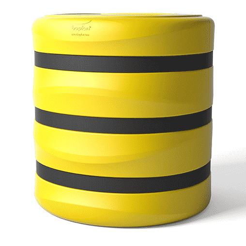 Säulenschutz Pfeilerschutz KP boplan® Flex impact® für 600×600 mm Säule, gelb