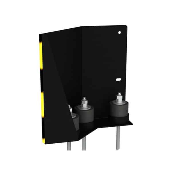 NEDCON Anfahrschutz Eckschutz 135 Grad rechts mit drei Puffern