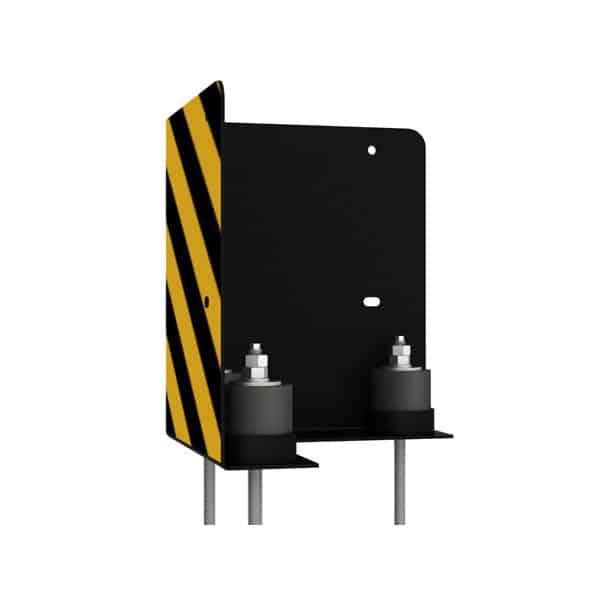 NEDCON Anfahrschutz Eckschutz 90 Grad mit drei Puffern