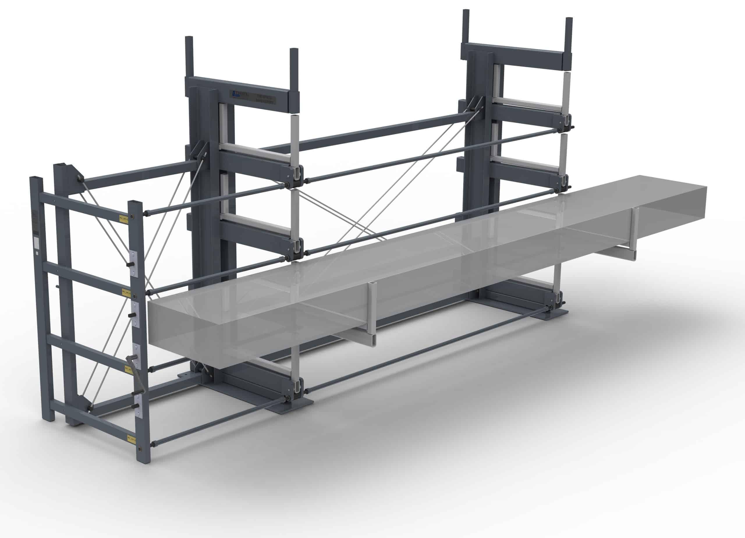 Roll-aus-Regal für Langgut MINI-JUMBO-6E-2G-92×20 ML=3000 – Ausrollbares Kragarmregal