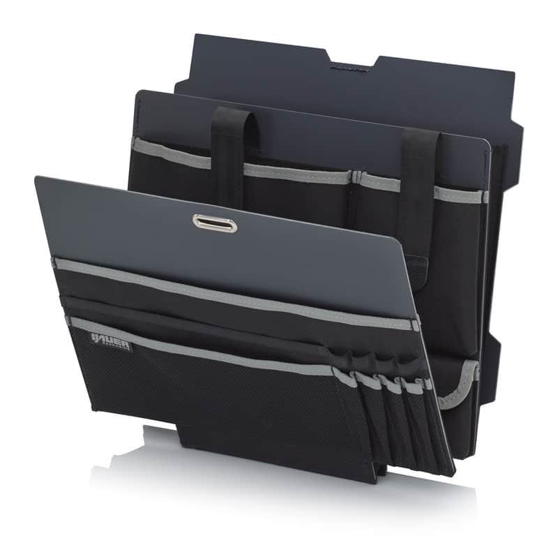 Deckeltafel Schutzkoffer Büroeinsatz AUER packaging