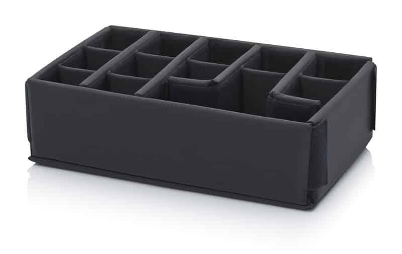 Polstereinlage Schutzkoffer mit 2 Querteilern und 2 Querteilern knickbar, 8 Zwischenteiler AUER packaging
