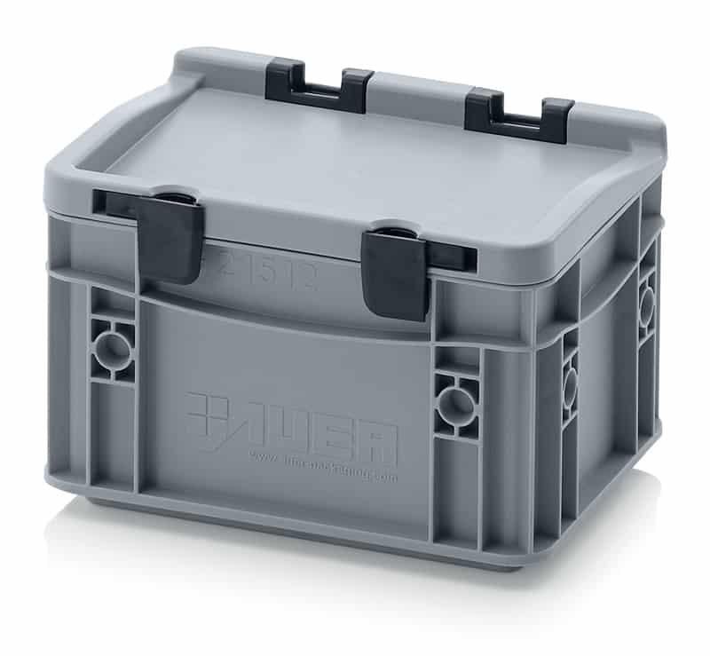 Eurobehälter / Eurobox mit Scharnierdeckel 20 x 15 x 13,5 cm AUER packaging