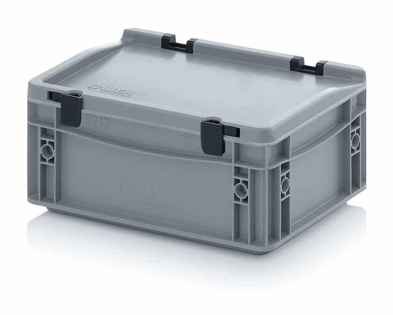 Eurobehälter / Eurobox mit Scharnierdeckel 30 x 20 x 13,5 cm AUER packaging