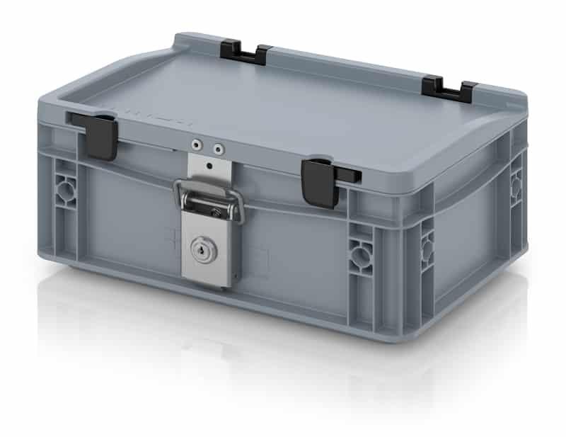 Abschließbarer Eurobehälter / Eurobox 30 x 20 x 13,5 cm AUER packaging