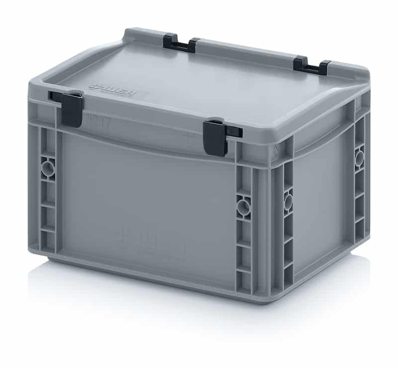 Eurobehälter / Eurobox mit Scharnierdeckel 30 x 20 x 18,5 cm AUER packaging