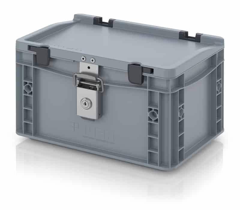 Abschließbarer Eurobehälter / Eurobox 30 x 20 x 18,5 cm AUER packaging
