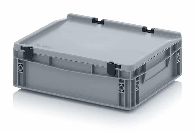 Eurobehälter / Eurobox mit Scharnierdeckel 40 x 30 x 13,5 cm AUER packaging