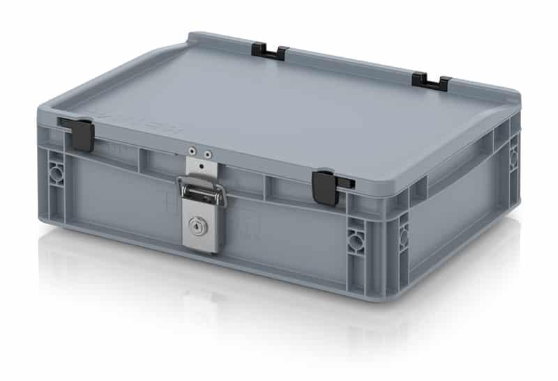 Abschließbarer Eurobehälter / Eurobox 40 x 30 x 13,5 cm AUER packaging