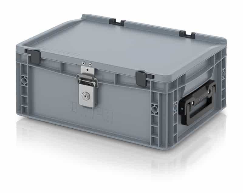 Eurobehälter / Eurobox Koffer mit Verschließsystem 2G 40 x 30 x 18,5 cm AUER packaging