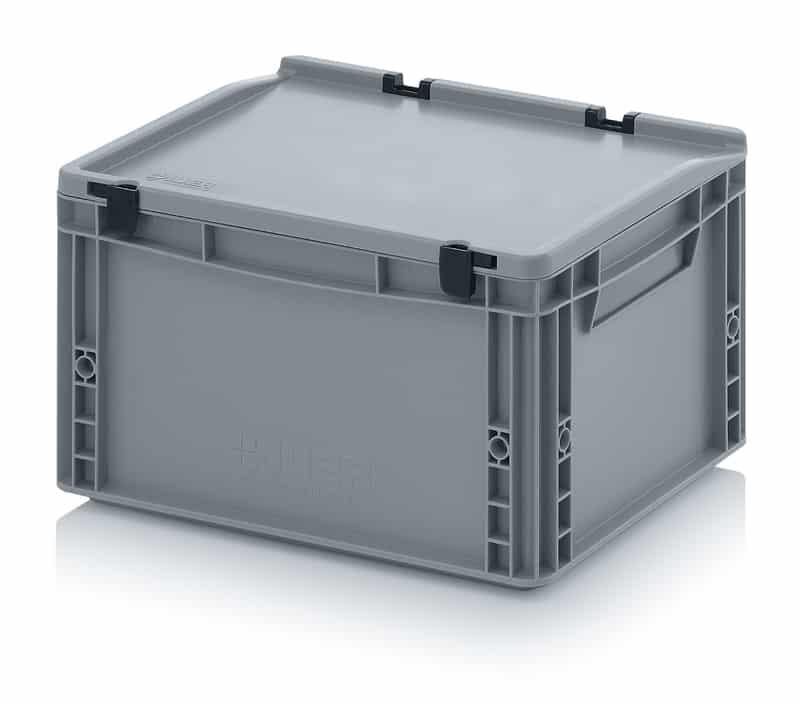 Eurobehälter / Eurobox mit Scharnierdeckel 40 x 30 x 23,5 cm AUER packaging