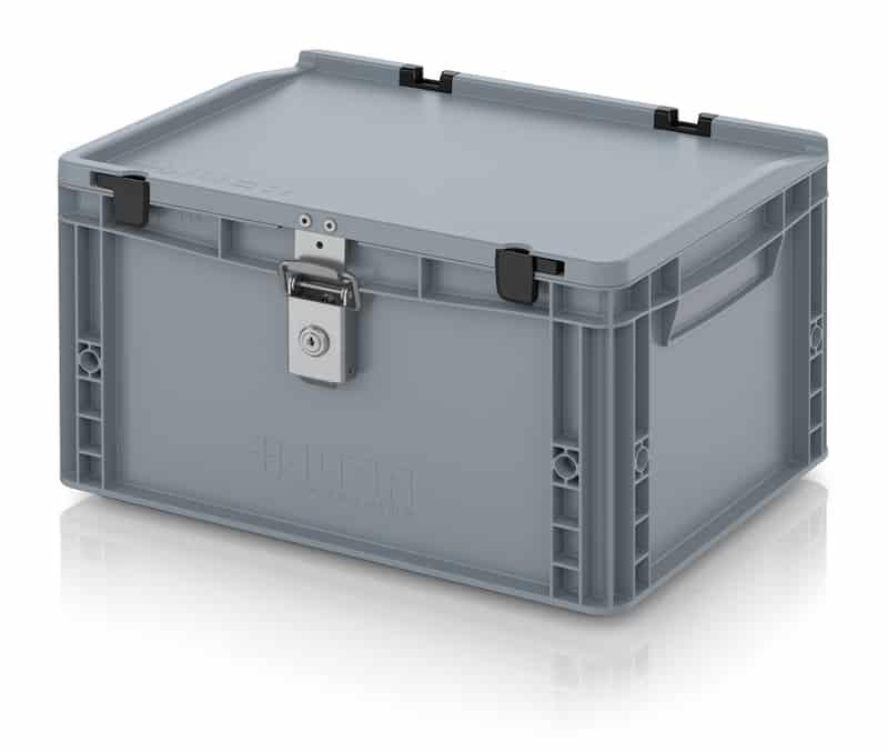 Abschließbarer Eurobehälter / Eurobox 40 x 30 x 23,5 cm AUER packaging