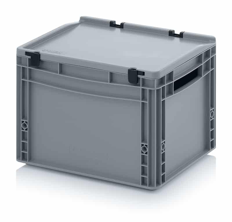 Eurobehälter / Eurobox mit Scharnierdeckel 40 x 30 x 28,5 cm AUER packaging