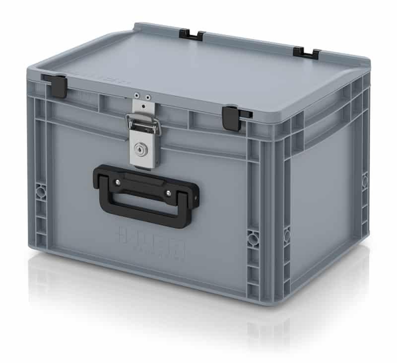 Eurobehälter / Eurobox Koffer mit Verschließsystem 1G 40 x 30 x 28,5 cm AUER packaging