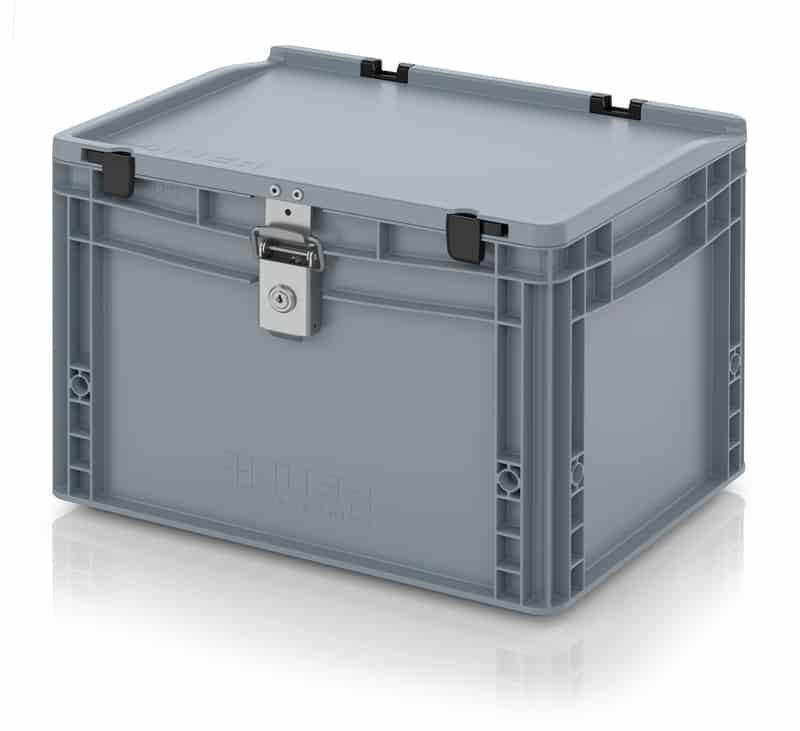 Abschließbarer Eurobehälter / Eurobox 40 x 30 x 28,5 cm AUER packaging