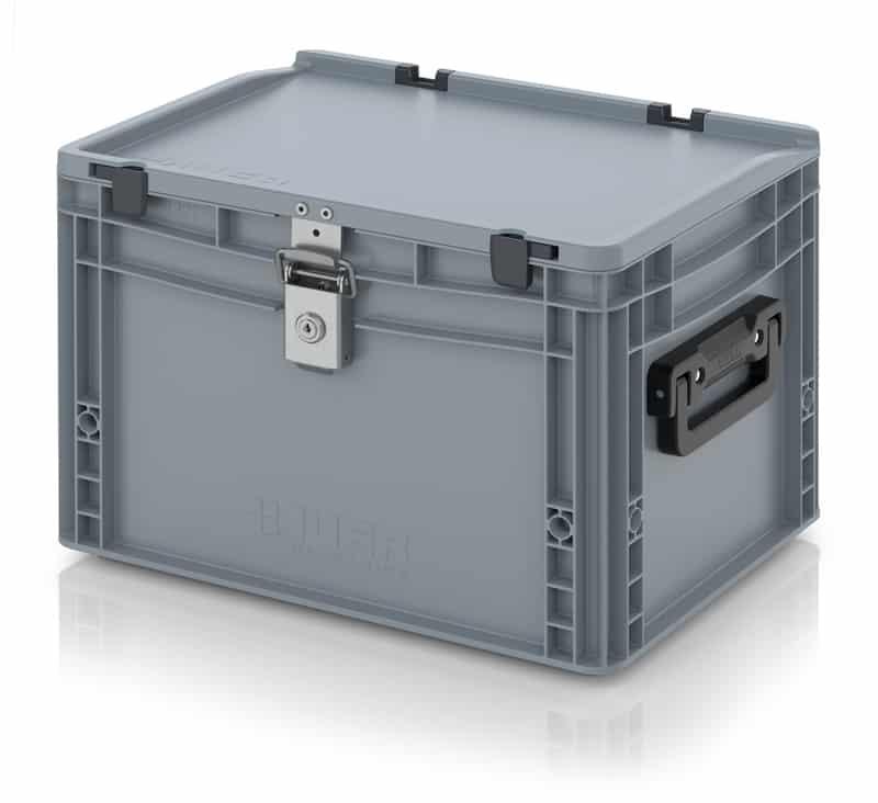 Eurobehälter / Eurobox Koffer mit Verschließsystem 2G 40 x 30 x 28,5 cm AUER packaging
