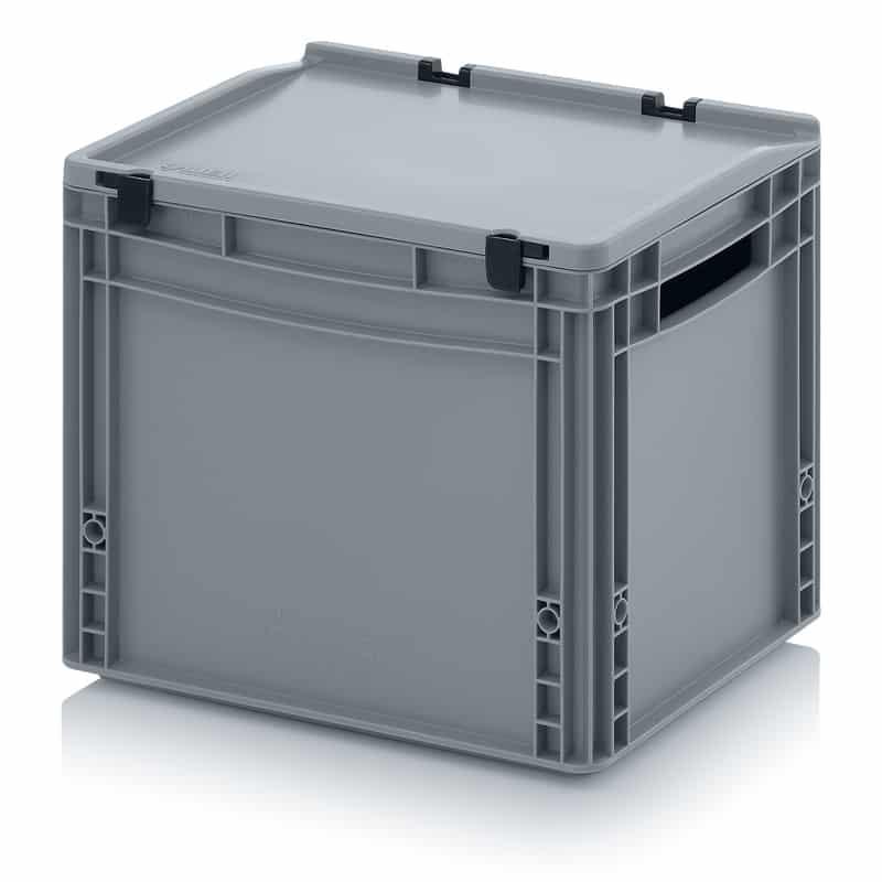 Eurobehälter / Eurobox mit Scharnierdeckel 40 x 30 x 33,5 cm AUER packaging